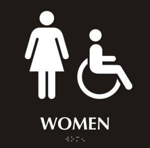 the non-ladies room.