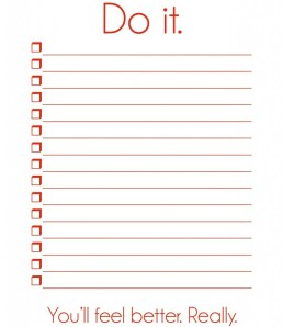 the annual to do list.